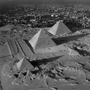 egypt. Three Pyramids of Giza with Cairo. copyright photographer Marilyn Bridges