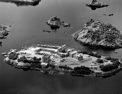 Philae from the East, 1992. copyright photographer Marilyn Bridges