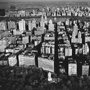 Manhattan and Central Park Reservoir, New York City, 1985. USA New York City. copyright photographer Marilyn Bridges.