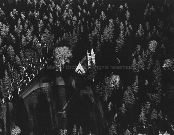Church in the Pines, Monroe County, New York, 1981. USA Northeast. copyright photographer Marilyn Bridges.