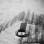 Lone White House in Snow, Scottsville, New York, 1982.